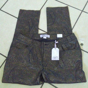 one 5 one Authentic Denim Womens Paisley Pants